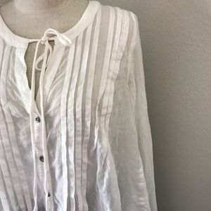 Free People Flowy Tunic Blouse